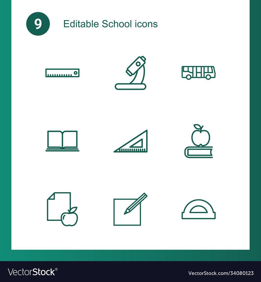 9 school icons