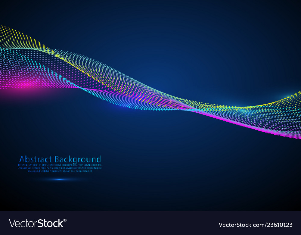 Abstract design element flowing particle waves