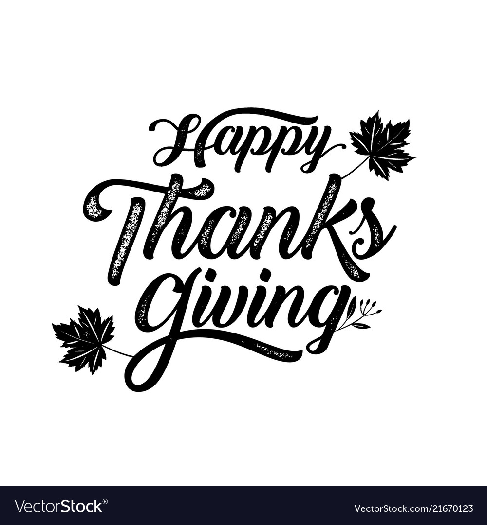 Happy thanksgiving typography poster celebration
