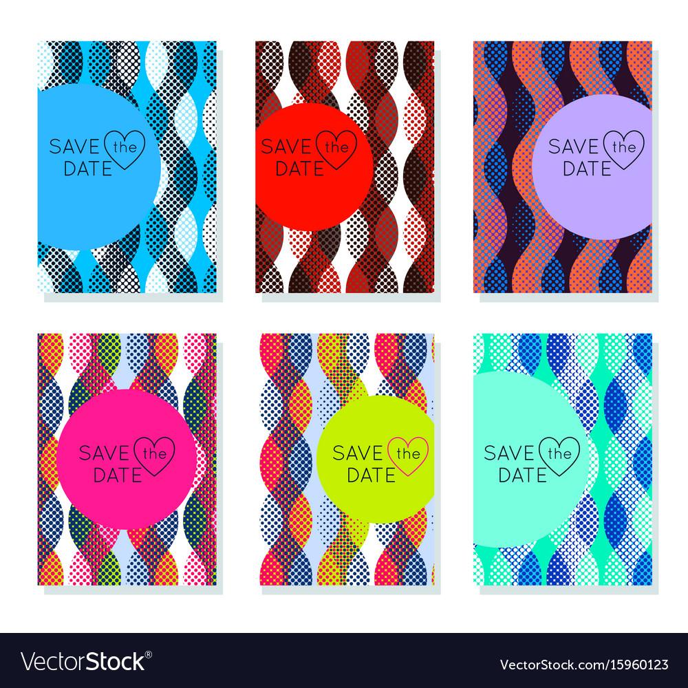 Invitation Card Design Template Set Editable
