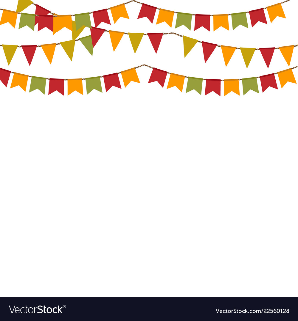 Background with garland for autumn holidays