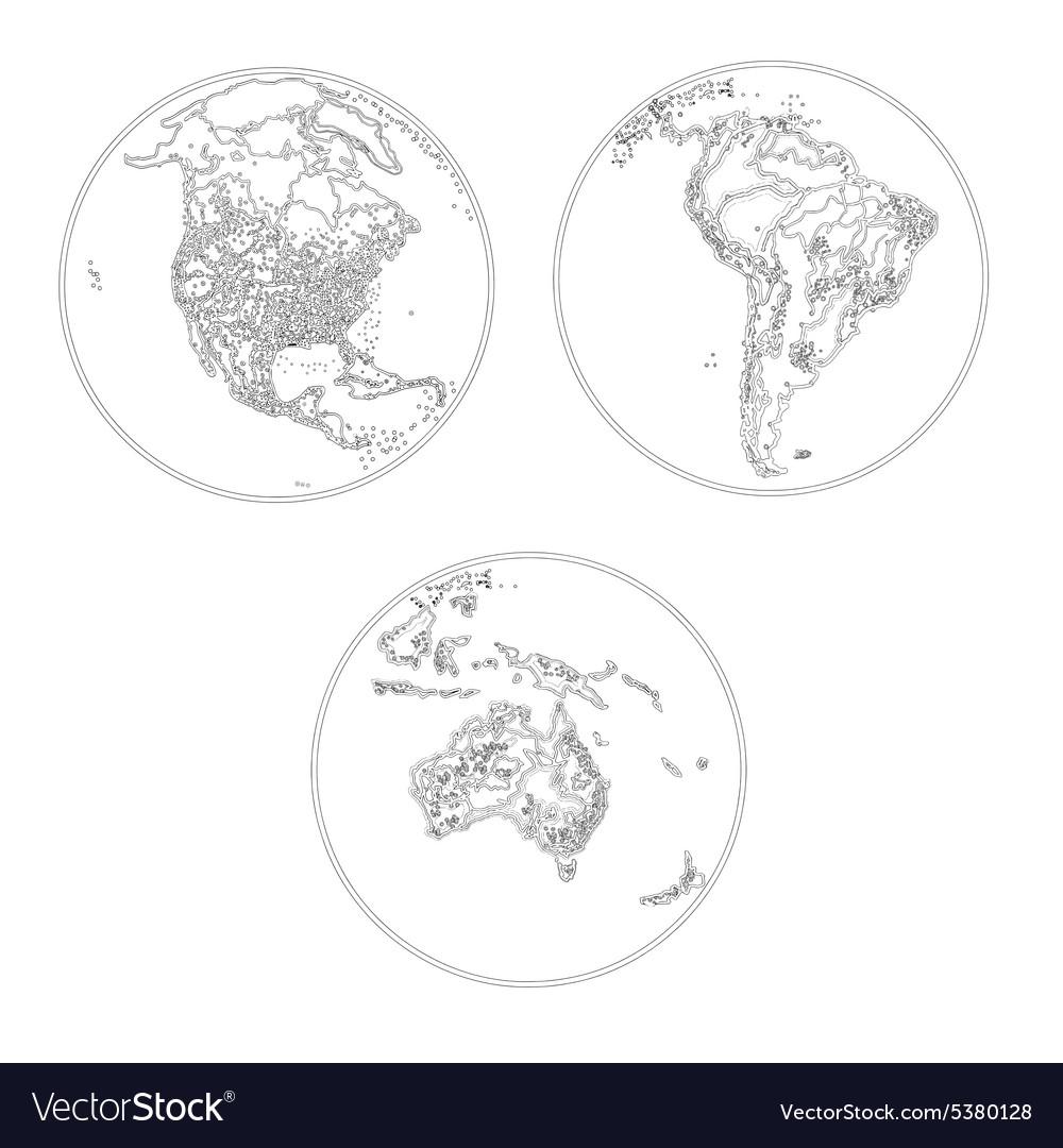 Globes scheme settlements America and Australia