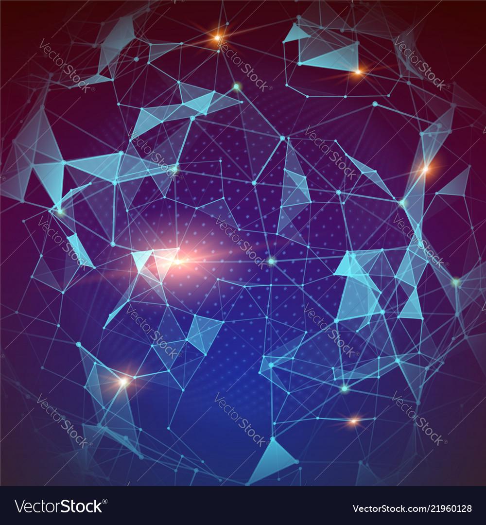 Pattern of plexus global network modern abstract