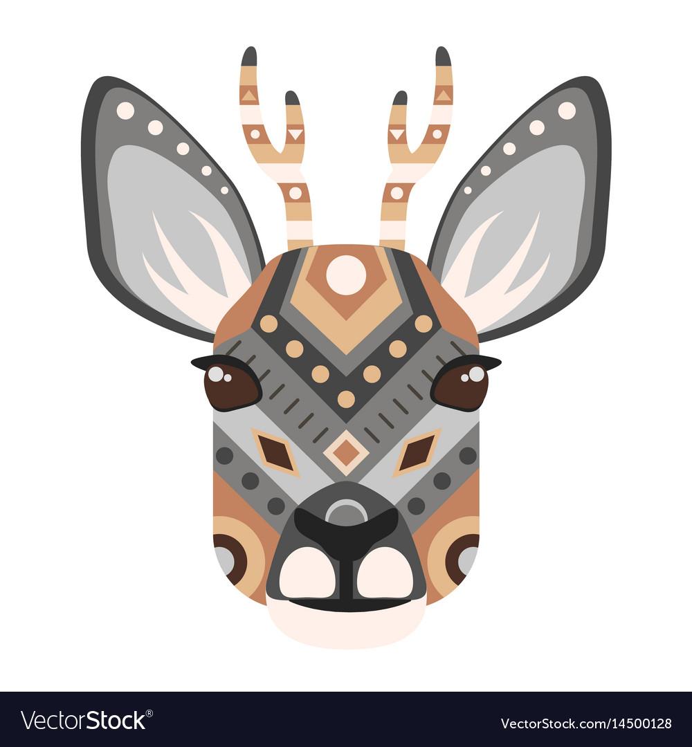 Roe head logo deer decorative emblem