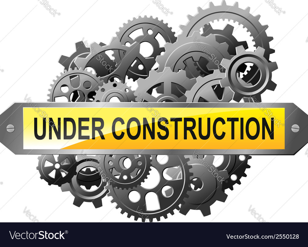 Under construction web page vector image