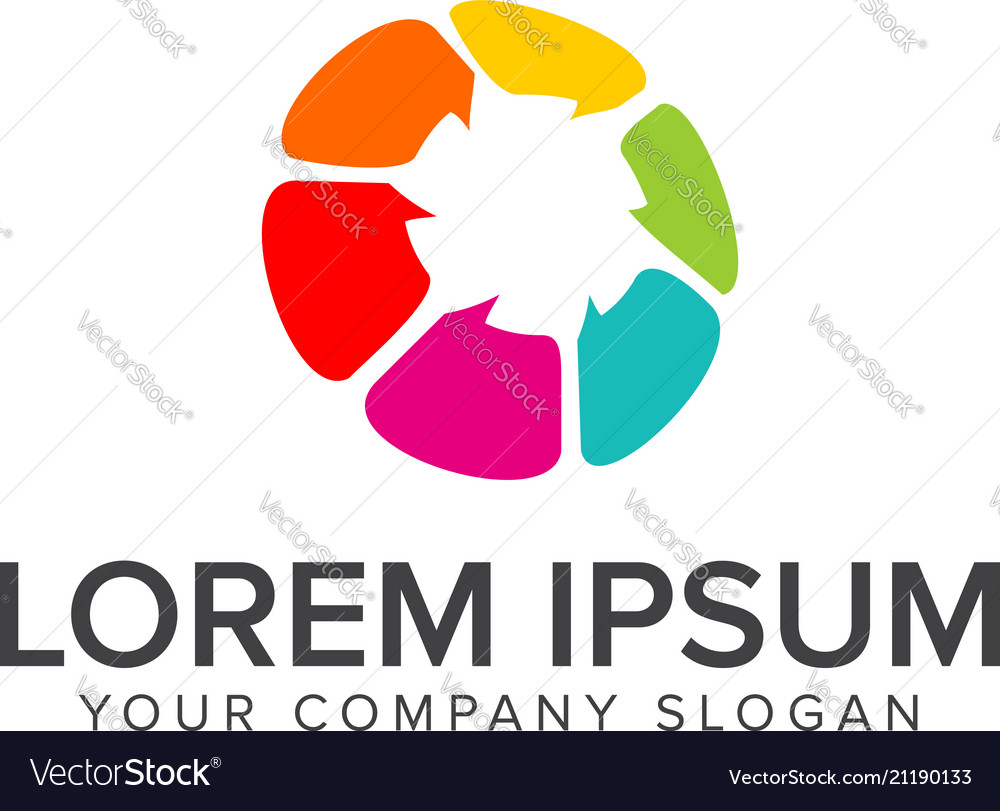 Chat communication logo design concept template