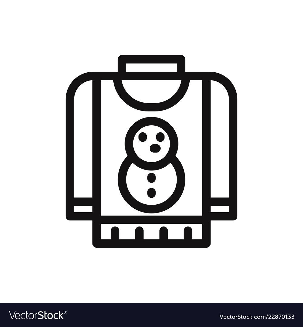 Christmas sweater icon