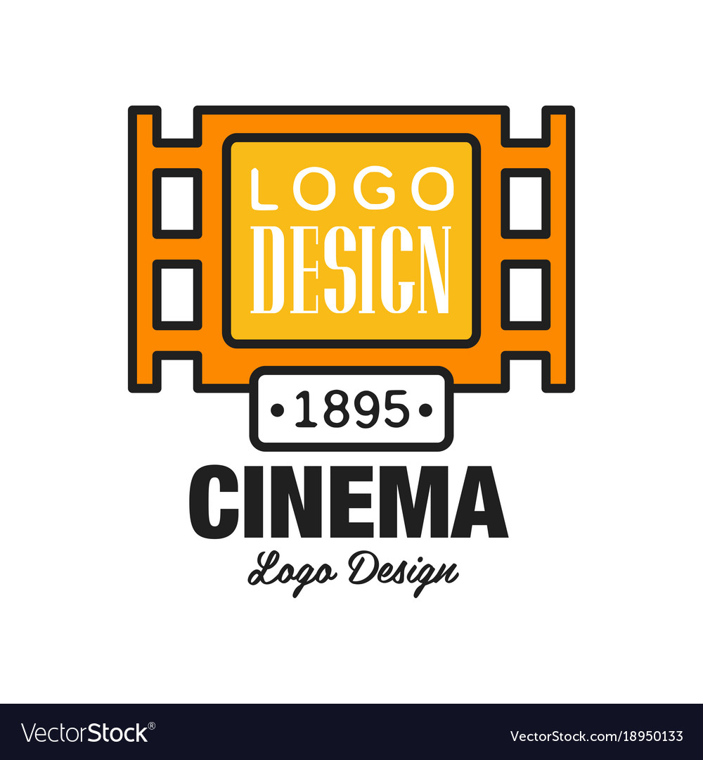 Creative cinema or movie logo template design