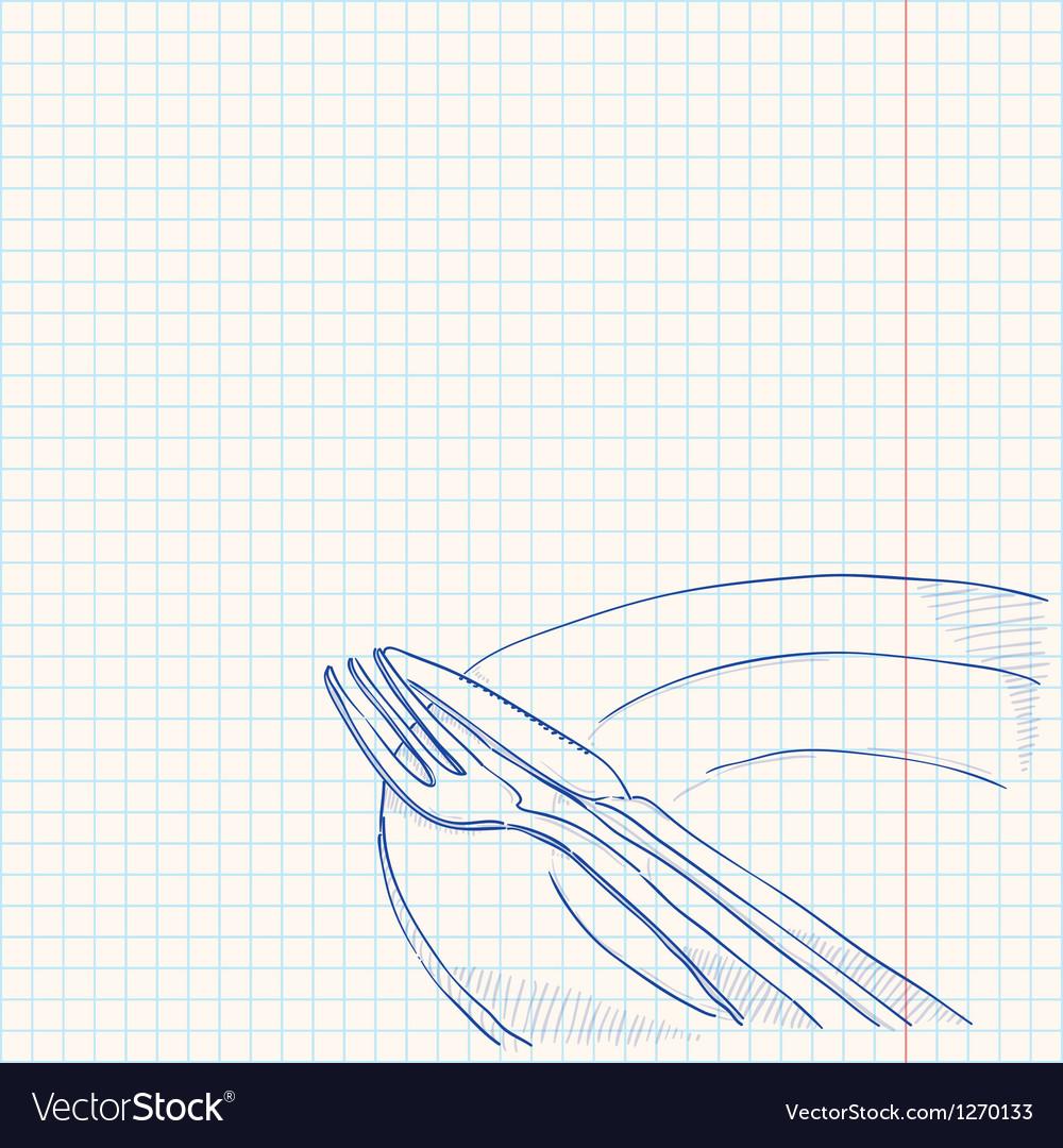 Cutlery Drawing vector image