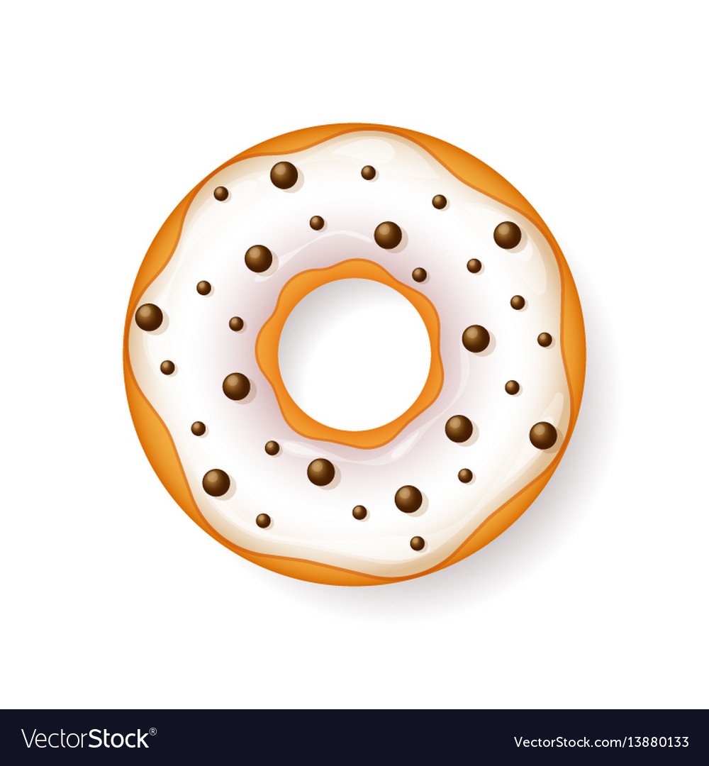 Donut begel with cream cookiescookie cake