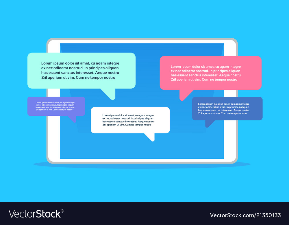Mobile application chat interface message
