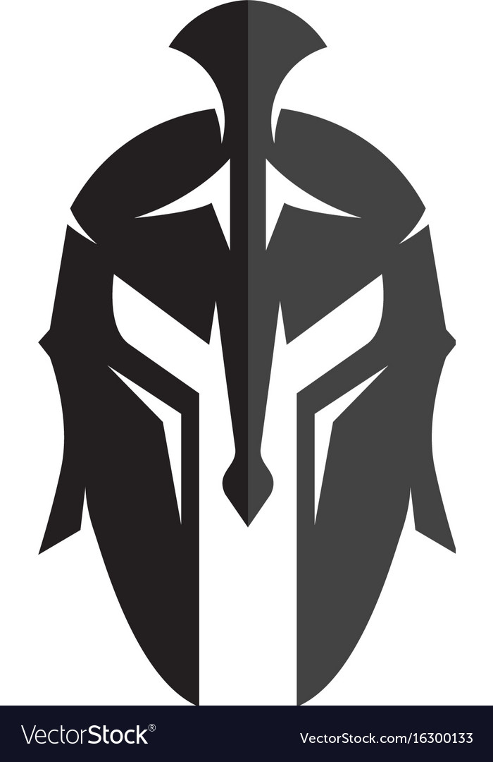 spartan helmet logo template icon design vector image rh vectorstock com
