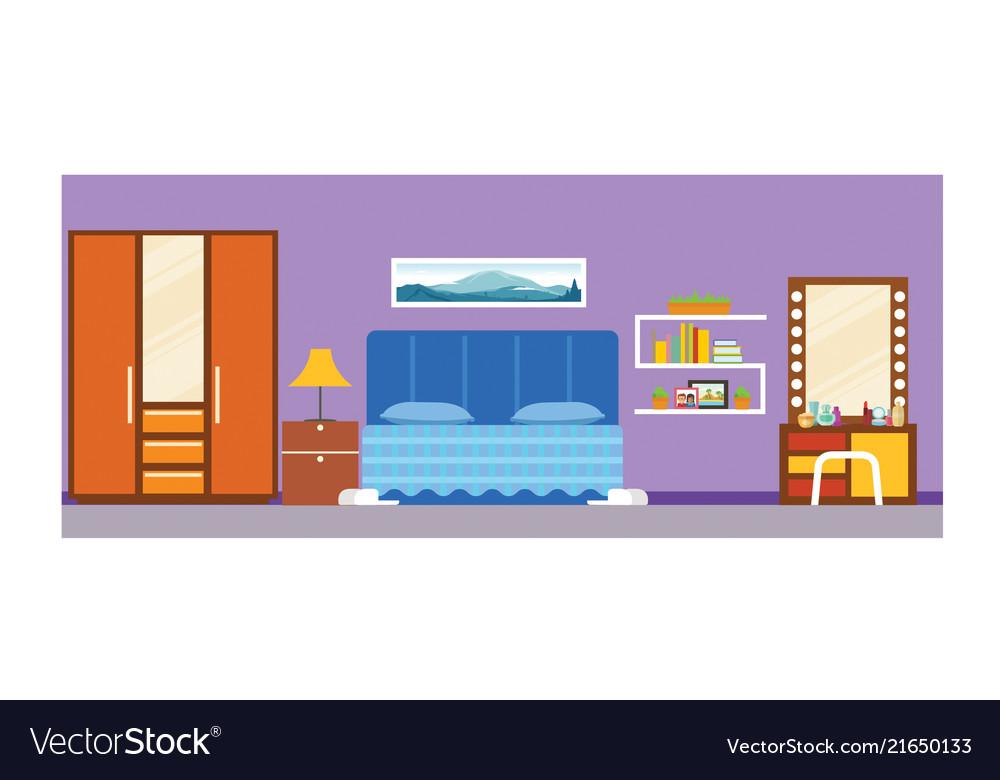 student school dorm bedroom interior royalty free vector  vectorstock