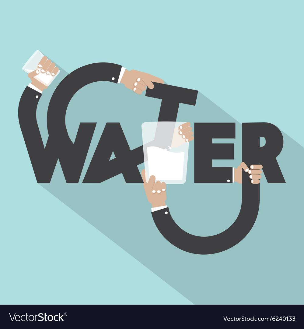 Water Typography Design vector image