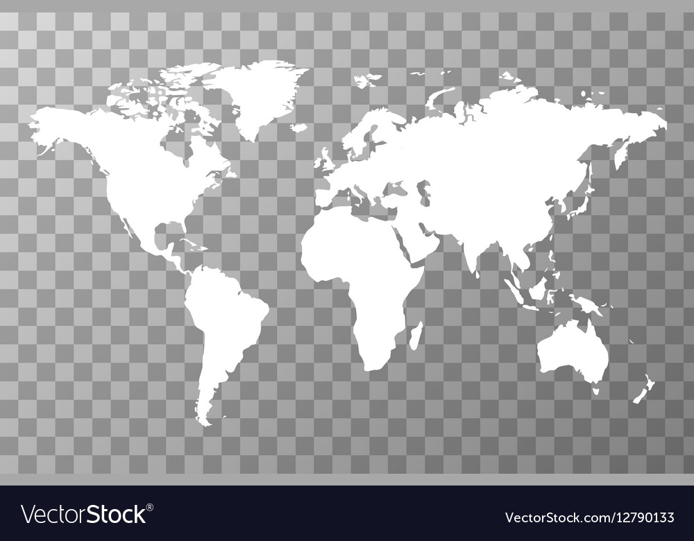 Worldwide map on transparent background Royalty Free Vector