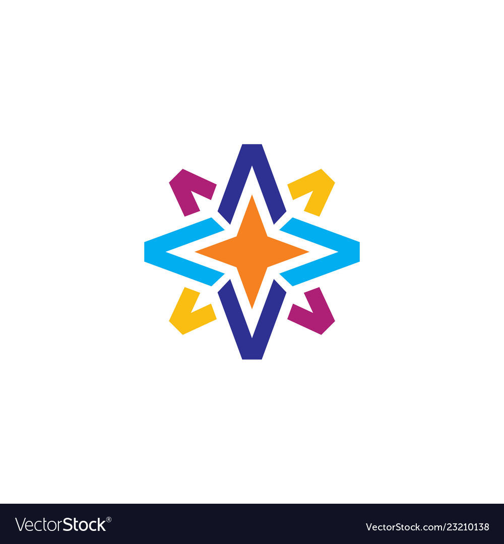Abstract star business finance logo