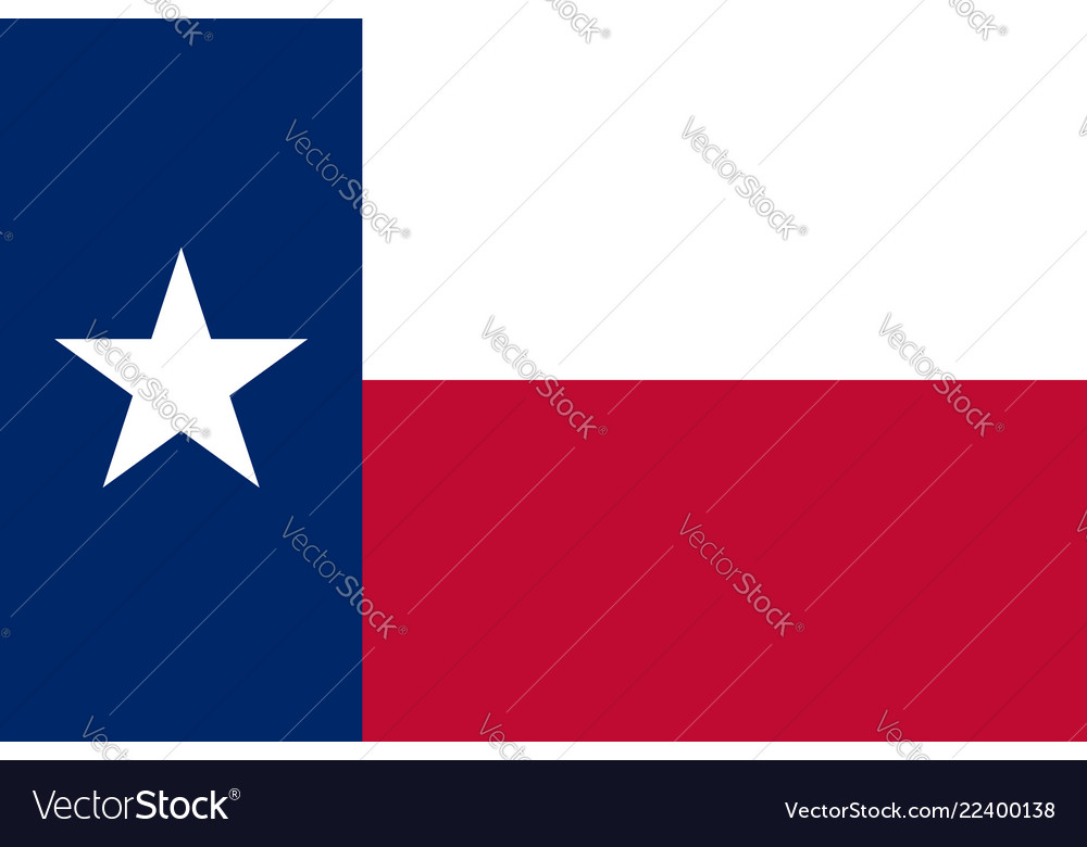 Flag of the us state of texas detailed