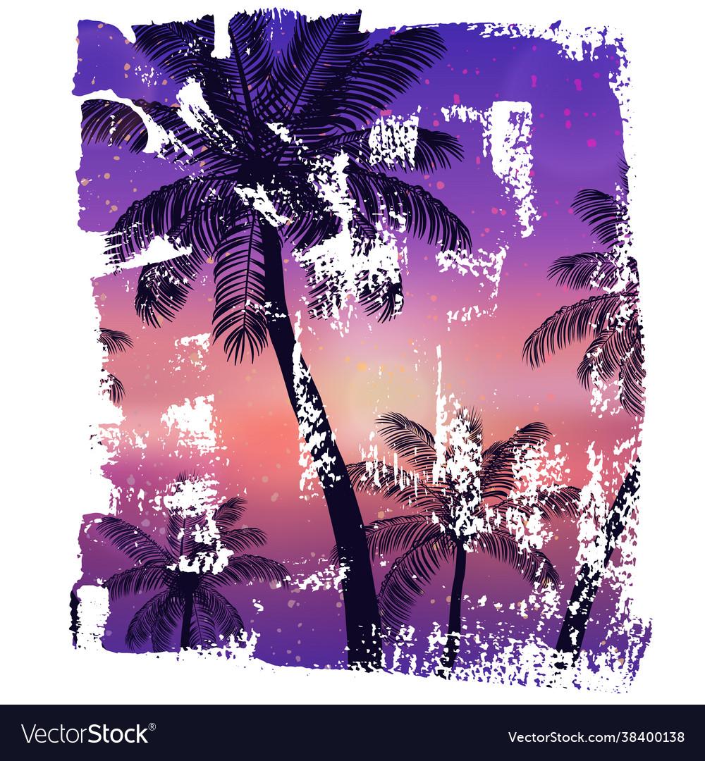 Handmade poster on watercolor brush stroke