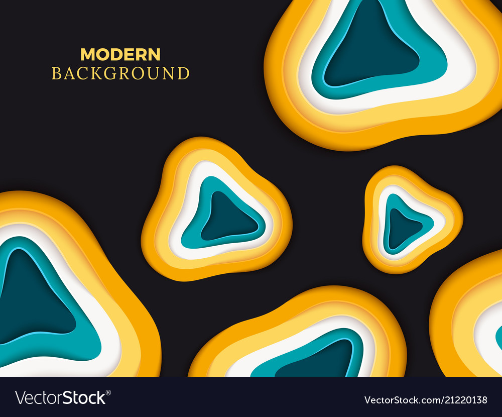 Modern abstract paper cut background design color