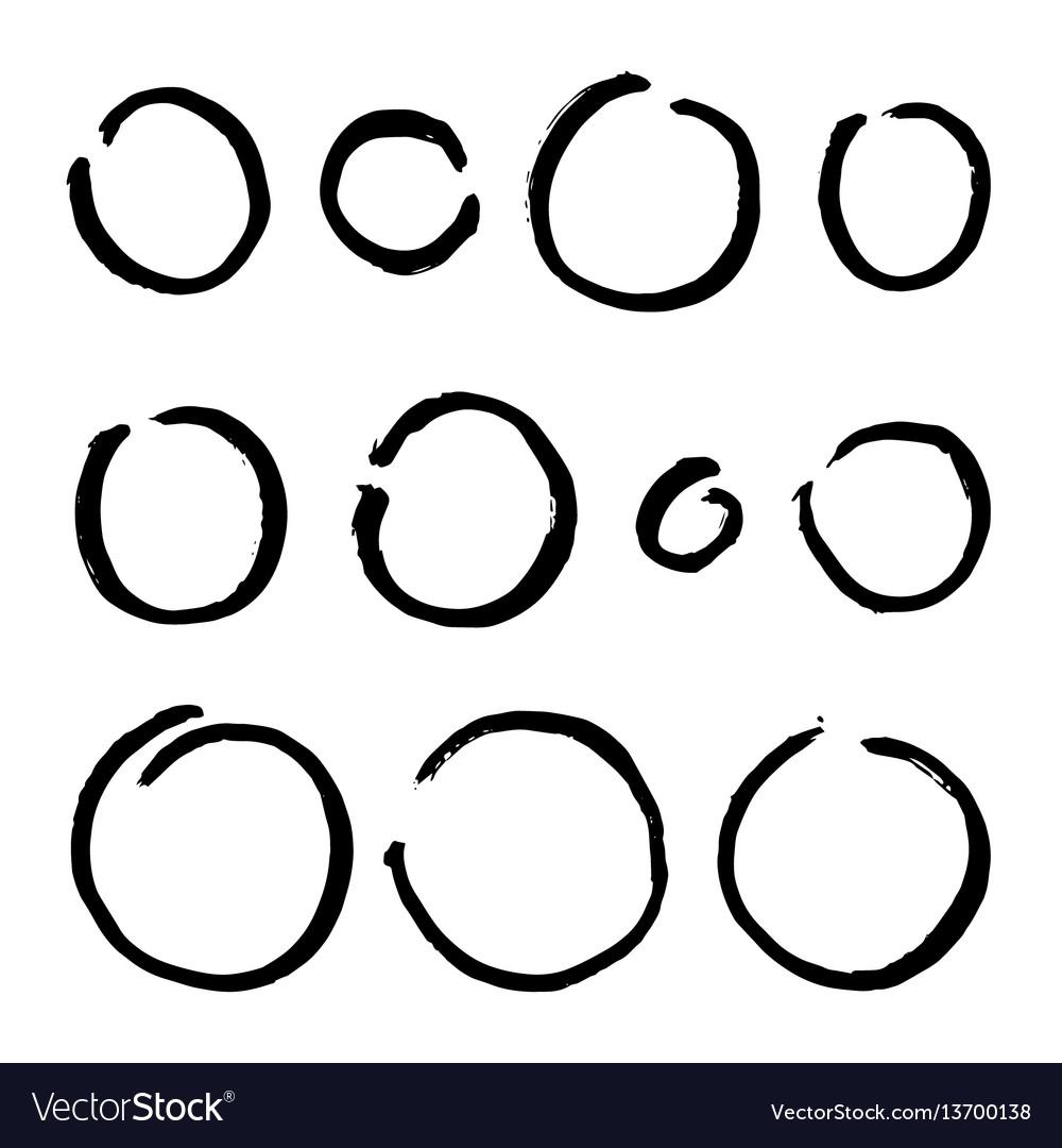 Paint brush circles