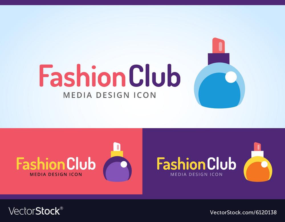 perfume bottle sign icon logo glamour perfume vector image