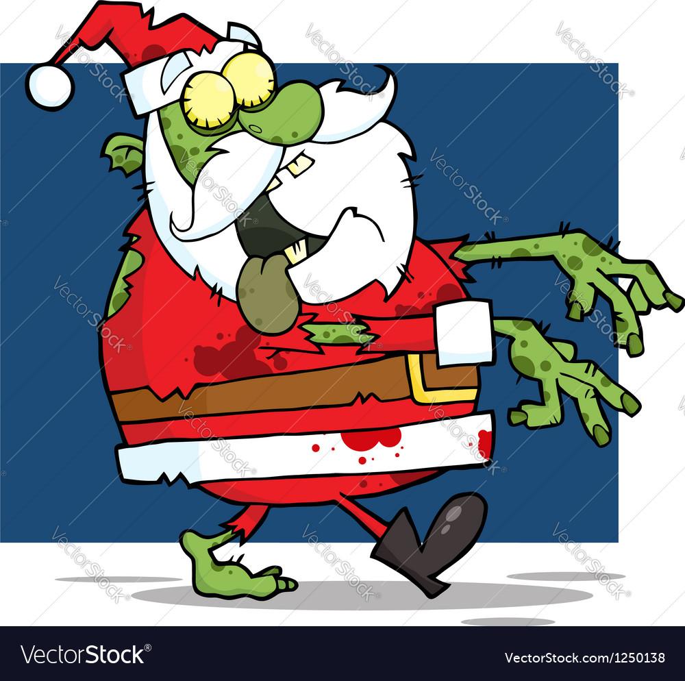Christmas Zombie Santa.Santa Claus Zombie Vector Image