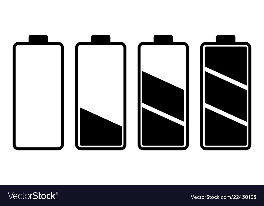 set of battery charge level indicator royalty free vector vectorstock