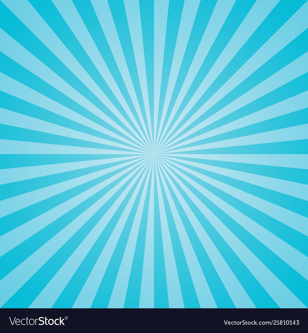 Blue retro sunburst background