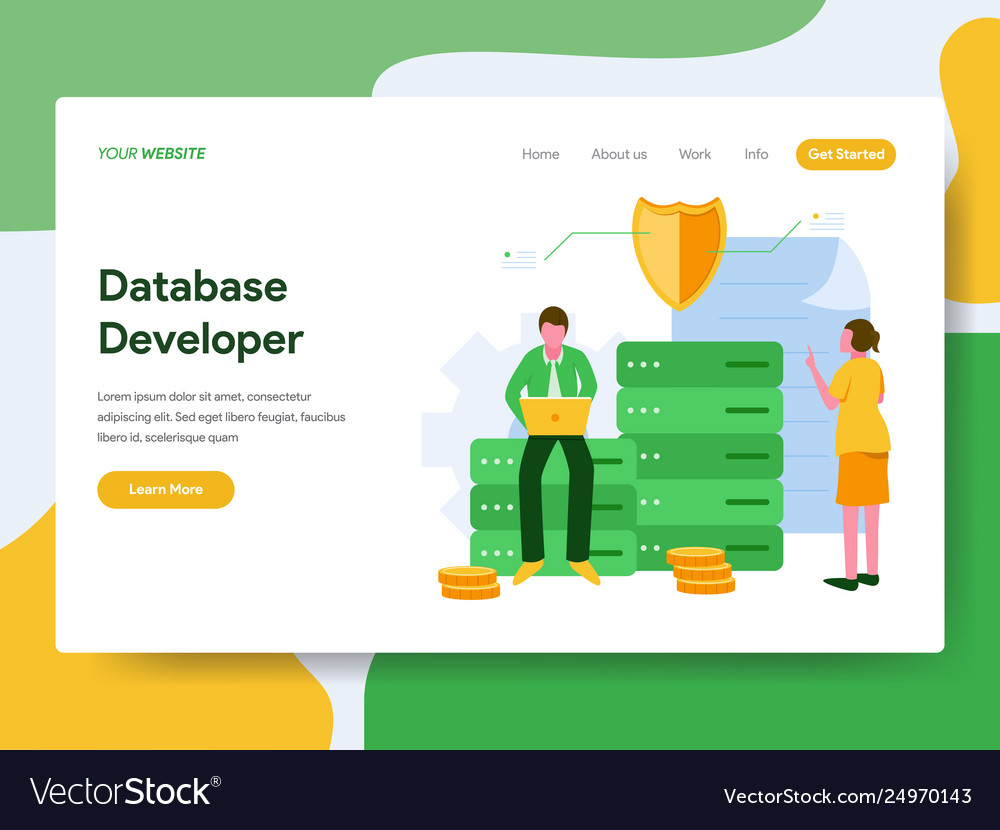 Landing page template database developer