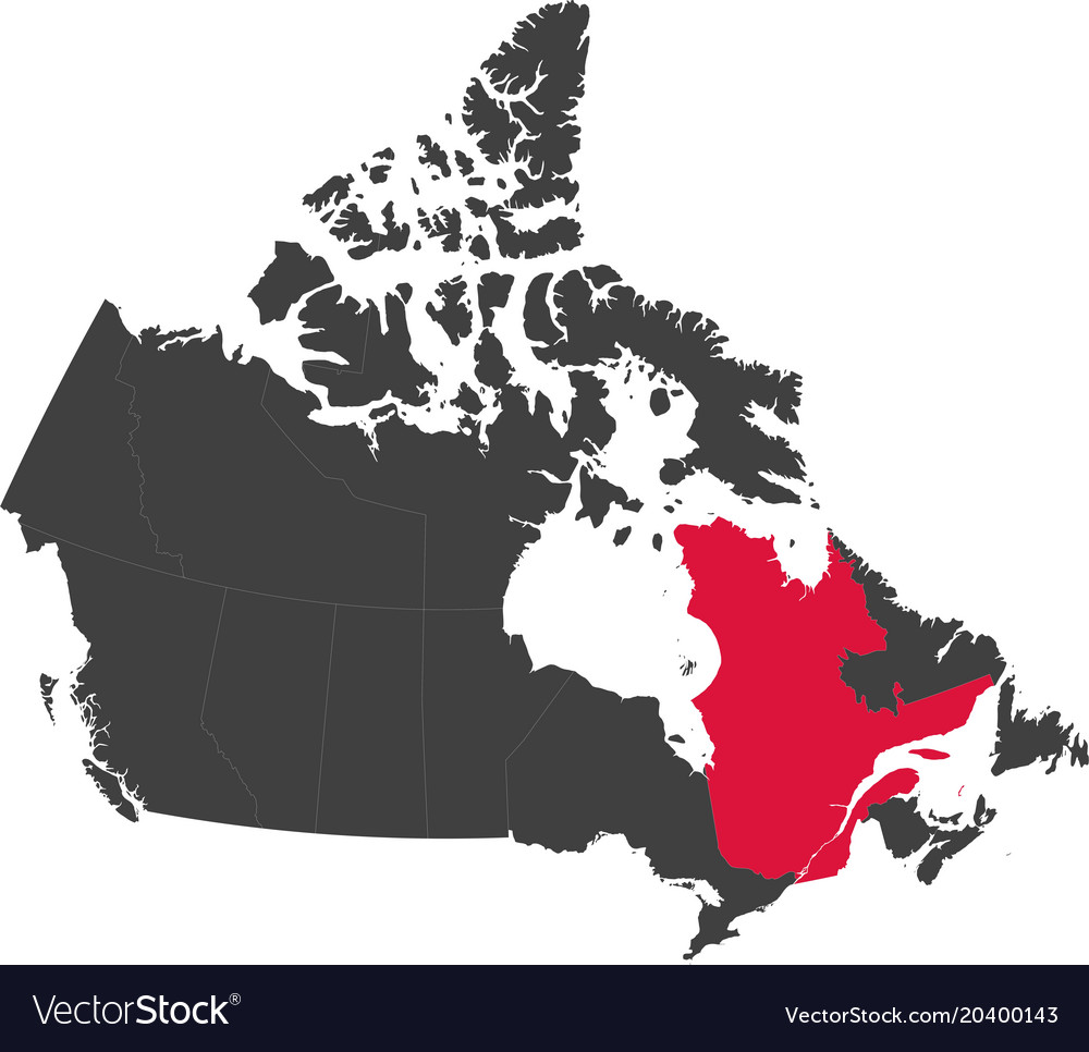 Map Of Canada_qubec Map canada   quebec Royalty Free Vector Image   VectorStock