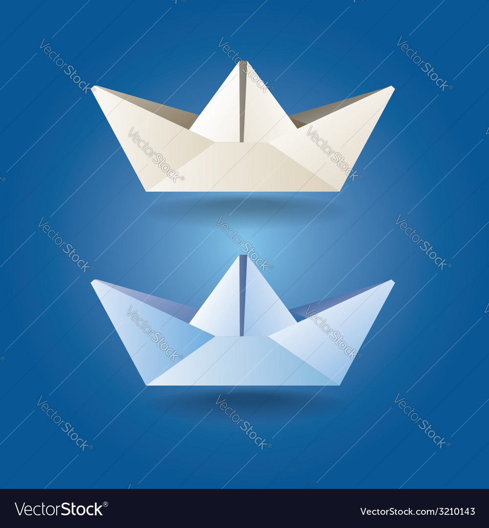 Paper boats soft colors