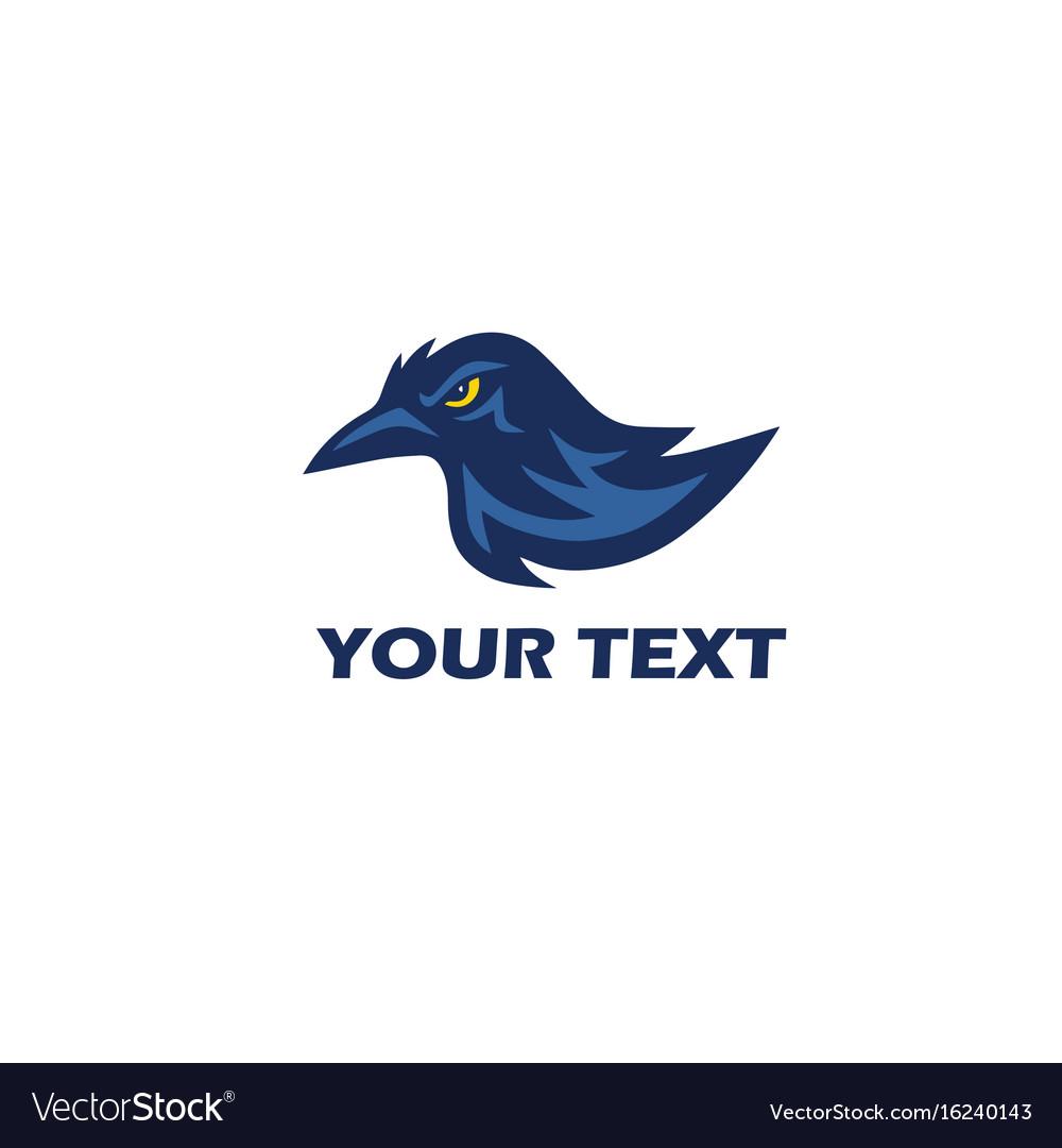 Raven logo mascot design vector image