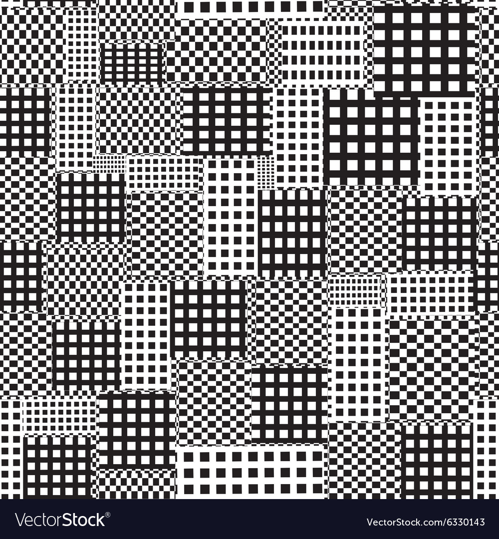 Seamless abstract pattern of squares