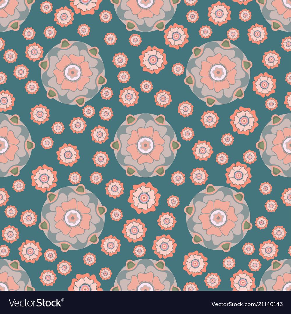 Stylized floral seamless pattern in oriental style
