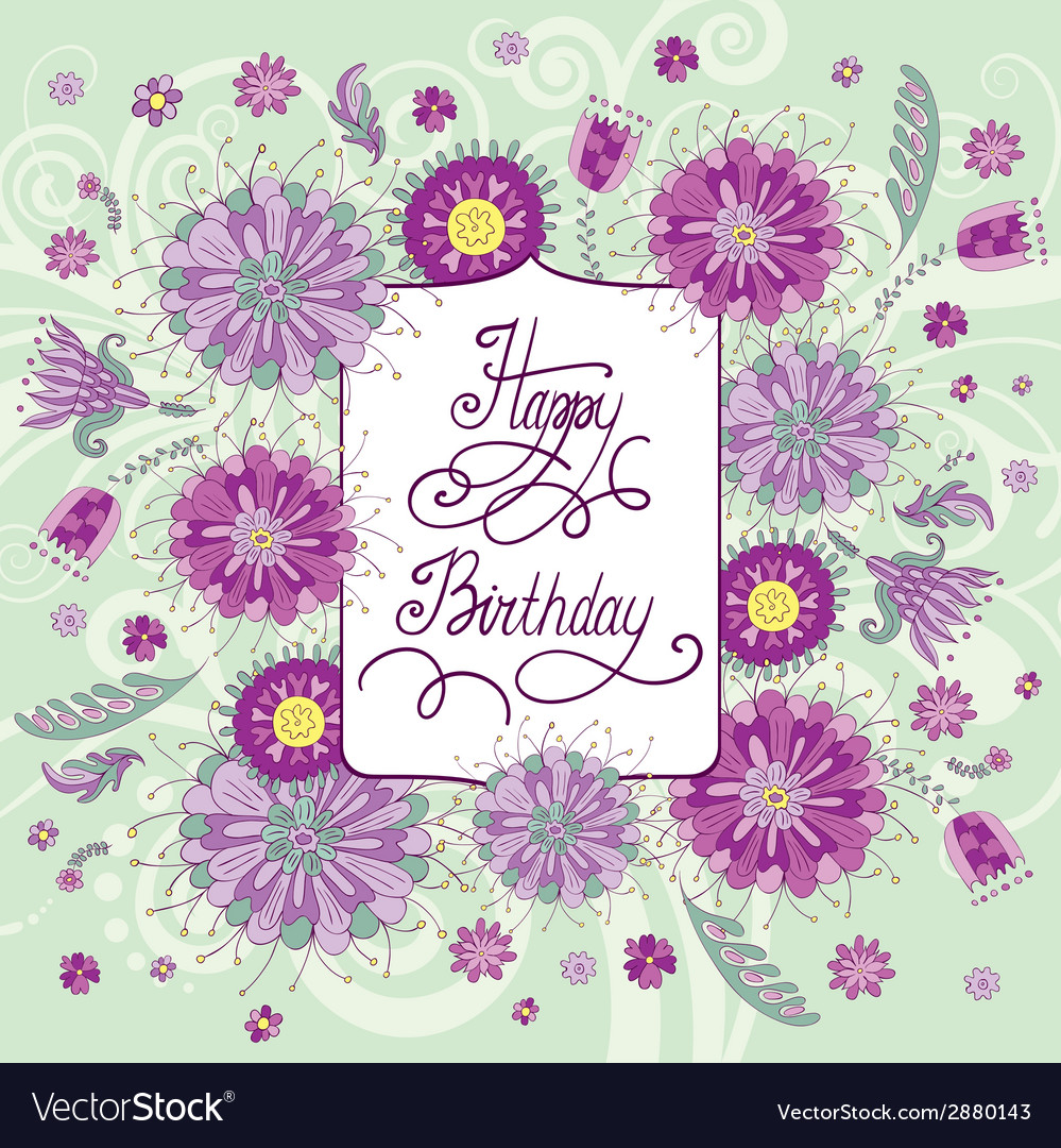 Summer flowers birthday royalty free vector image summer flowers birthday vector image izmirmasajfo