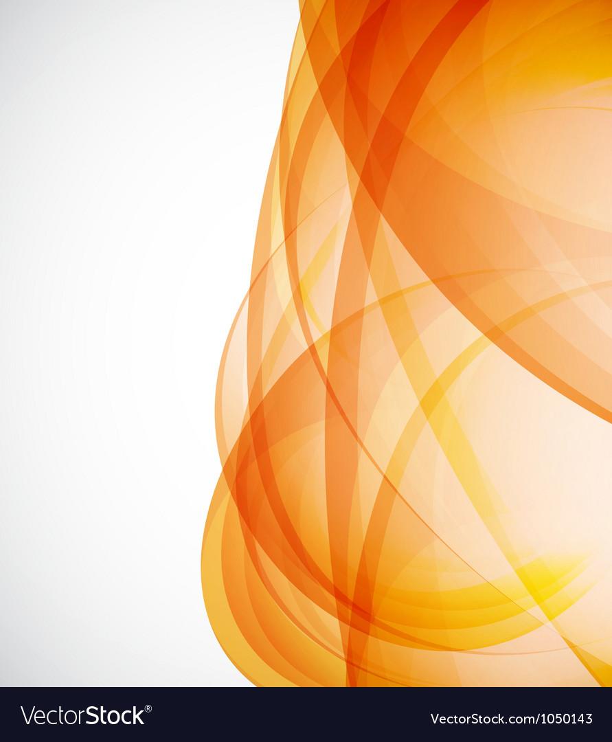 Sunshine orange background vector image