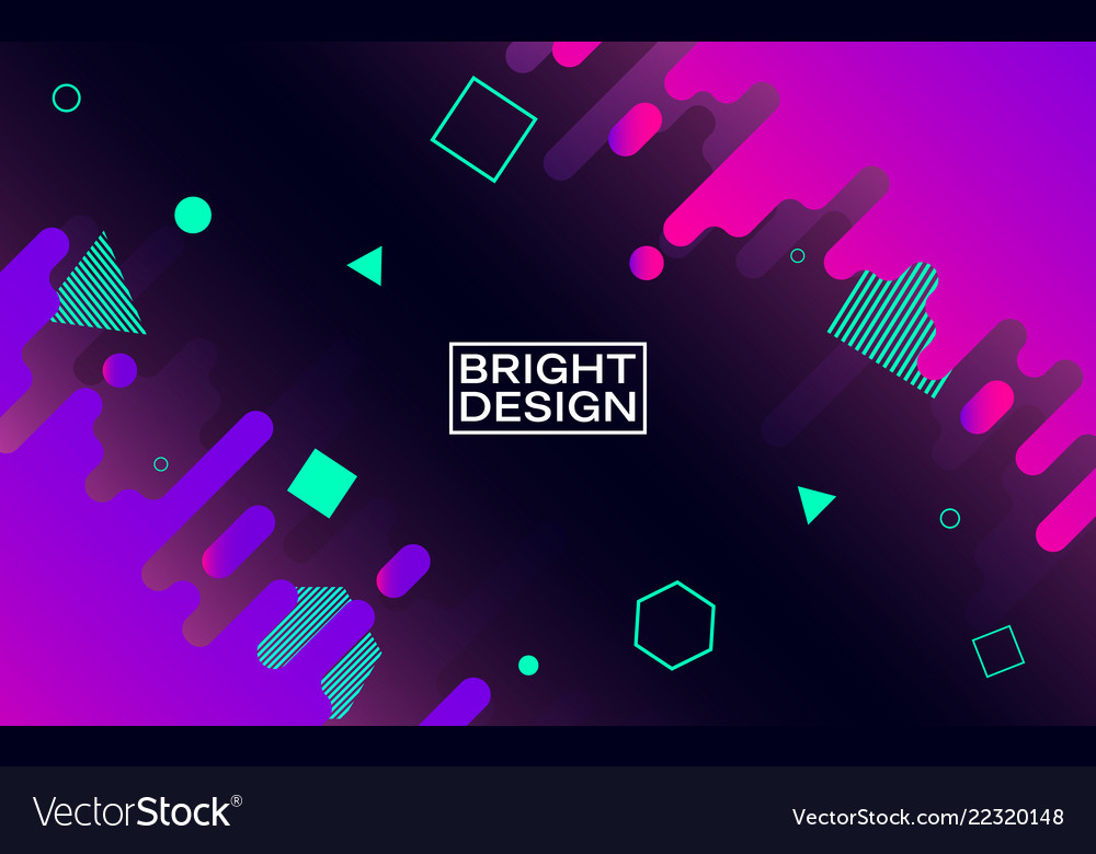 Abstract modern design color shapes in space