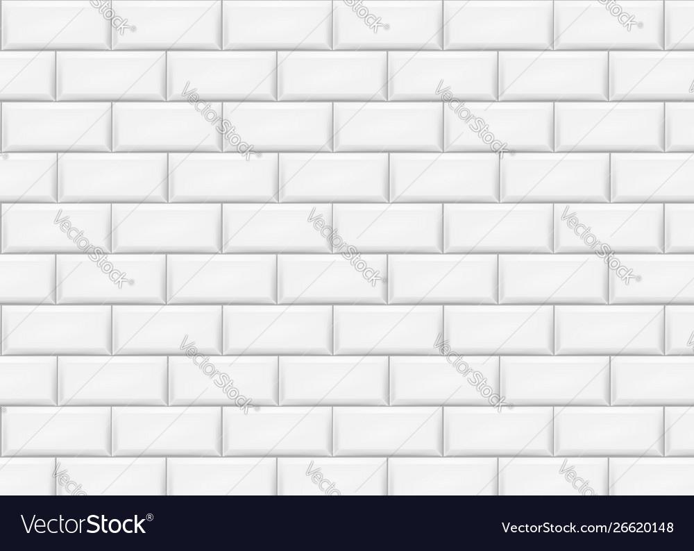 Ceramic Brick Tile Wall Vector Image