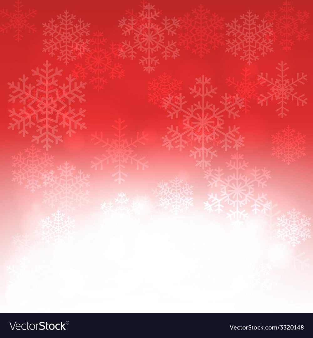 Christmas card with glowing snowflakes