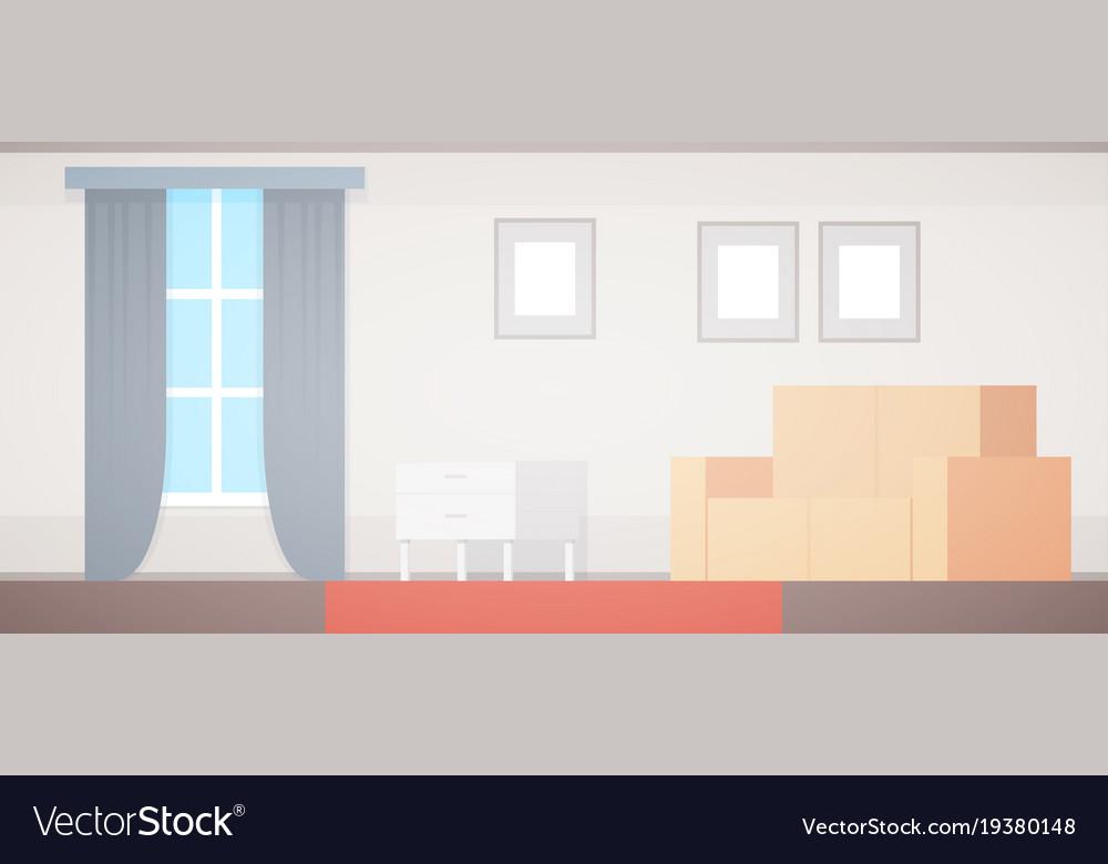 Flat home apartment design living room interior vector image