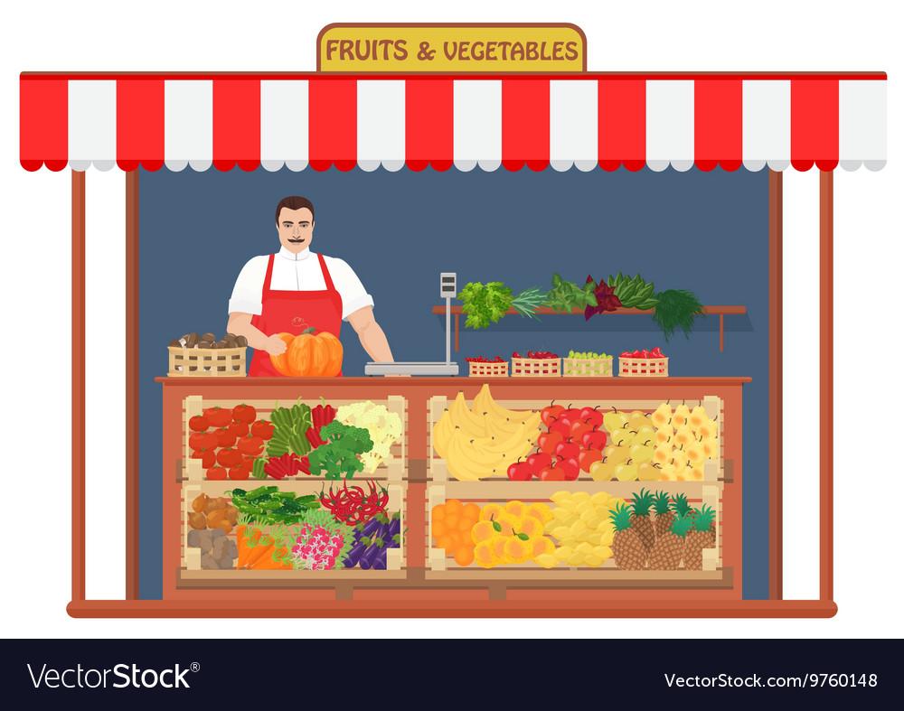 Fresh fruits and vegetables Shop Fruit Seller