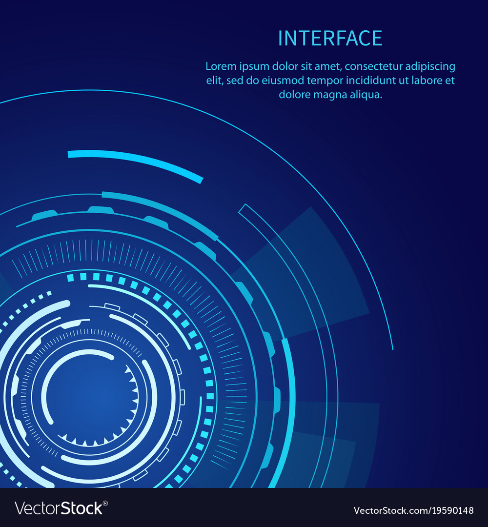 Gloomy interface with lot of geometric shapes