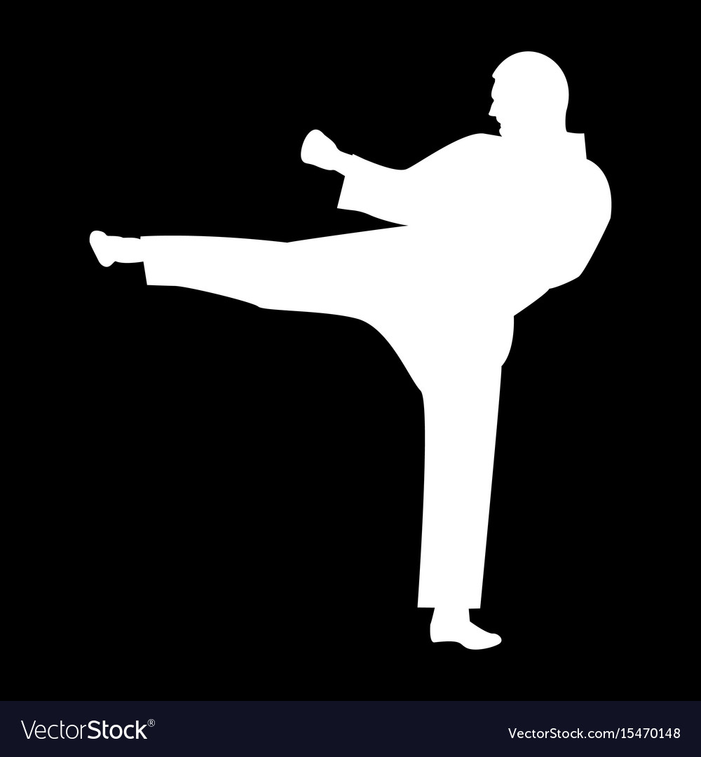Karate Man It Is The White Color Icon Royalty Free Vector