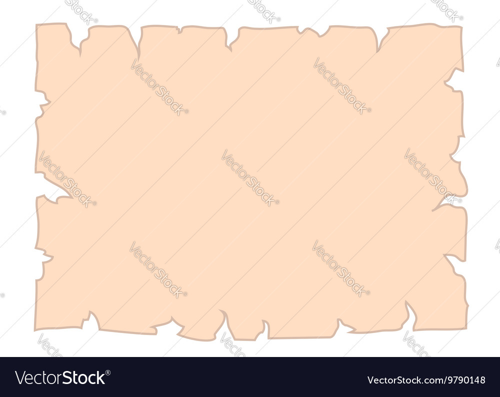 Parchment old paper cartoon banner vector image