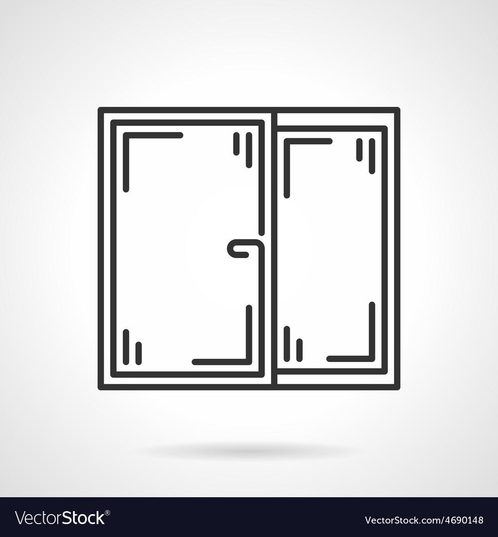 Window black line icon vector image