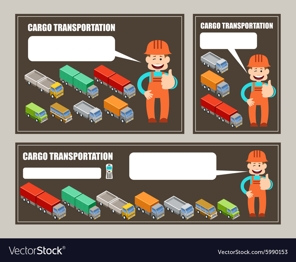 Automobile cargo transportation Leaflet banner