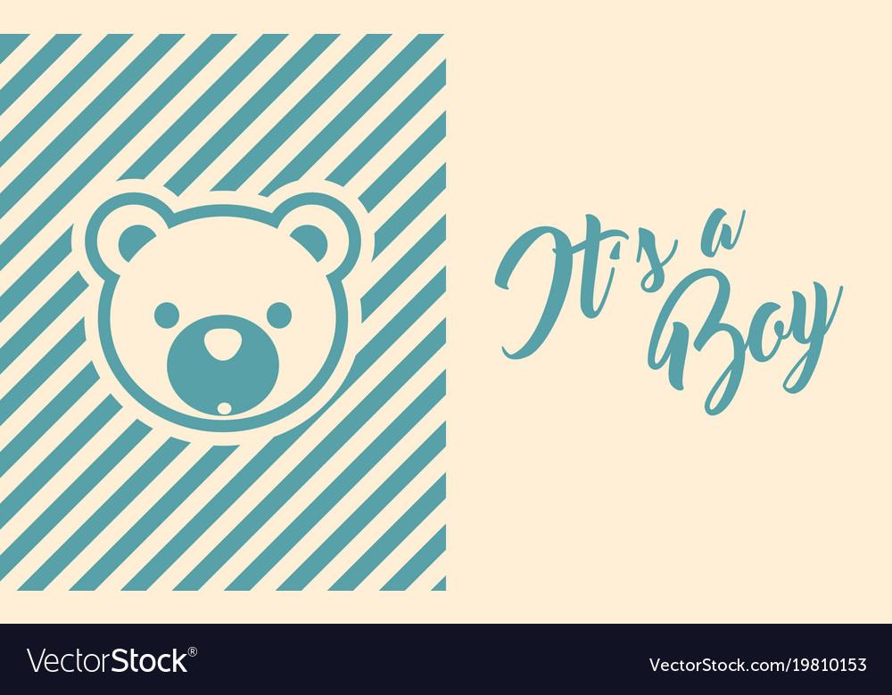 Baby boy shower invite greeting card