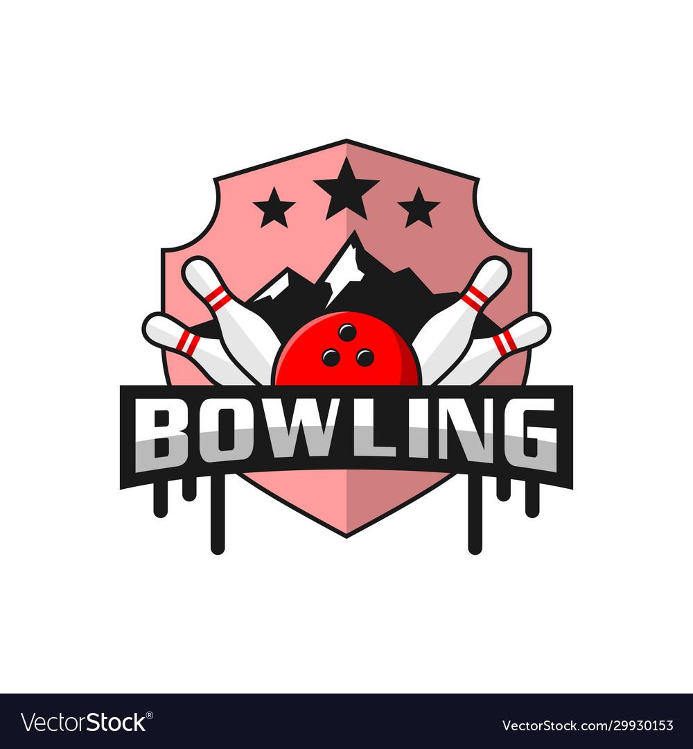 Bowling sports logo design