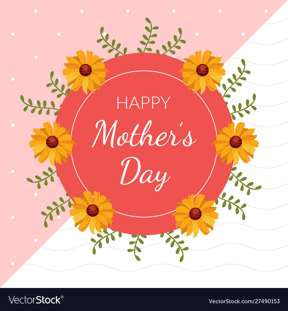 Happy mothers day greeting or invitation card