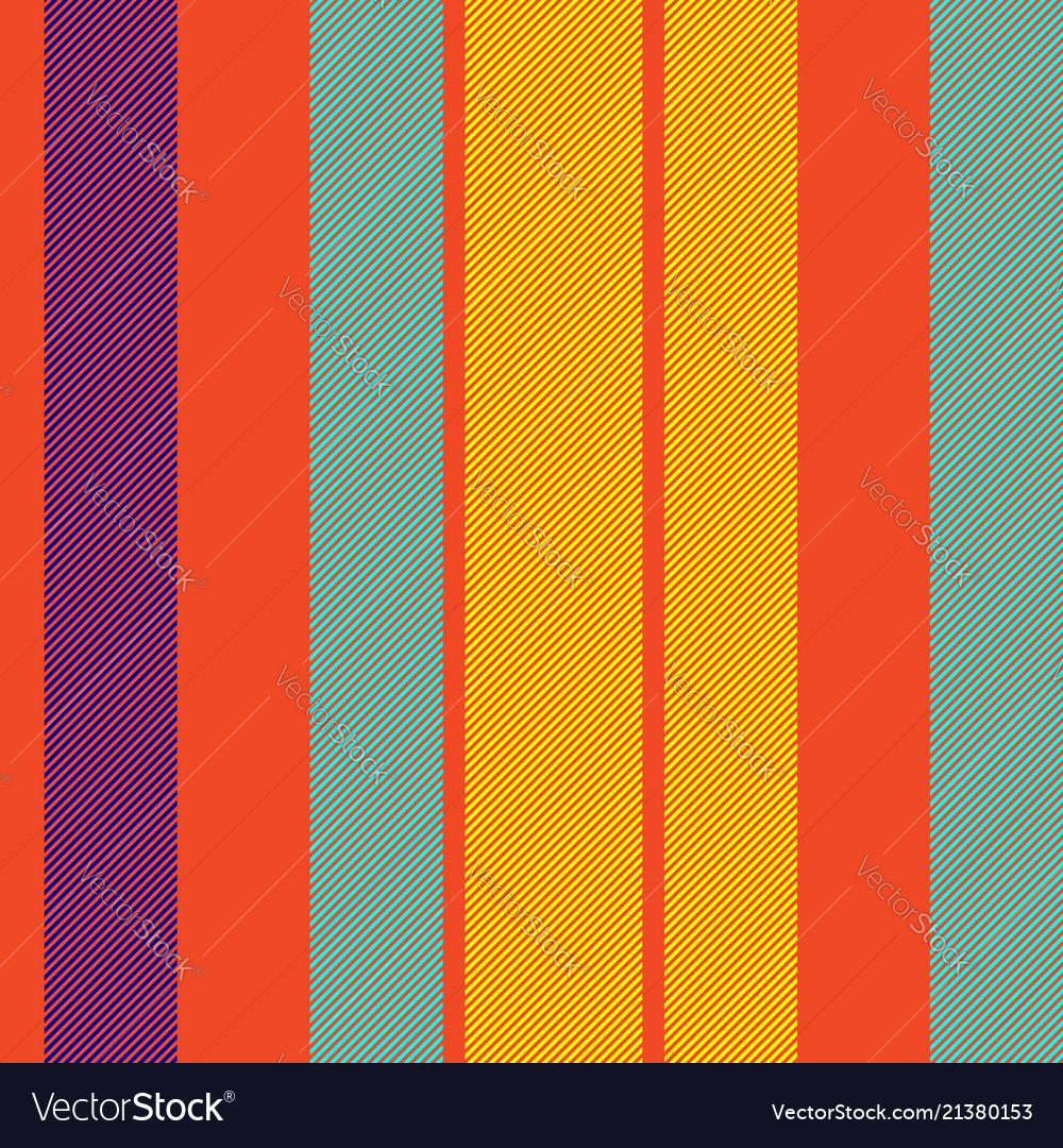 Orange pop art colored striped diagonal fabric